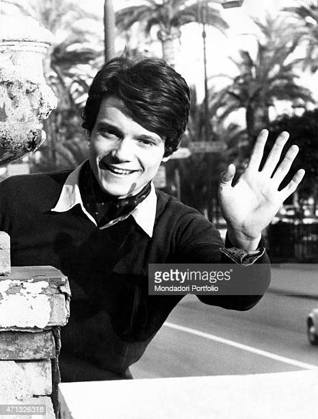 Portrait of the young Italian singer and theatre actor Massimo Ranieri photo shooted at the 18th Sanremo Music Festival where he made his dbut with...