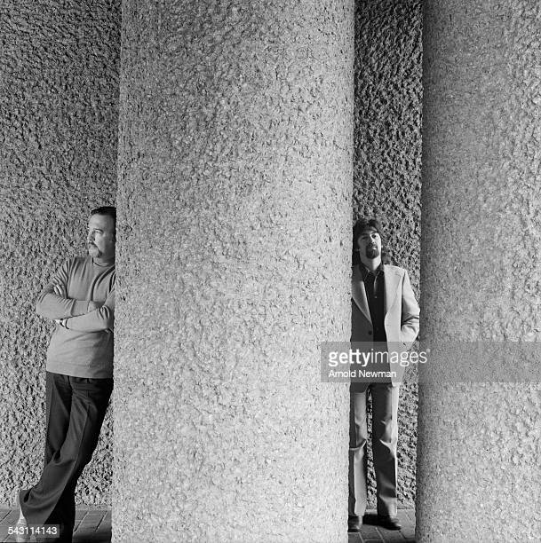 Portrait of theatre directors Sir Peter Hall and Trevor Nunn at the Barbican London England June 1 1978