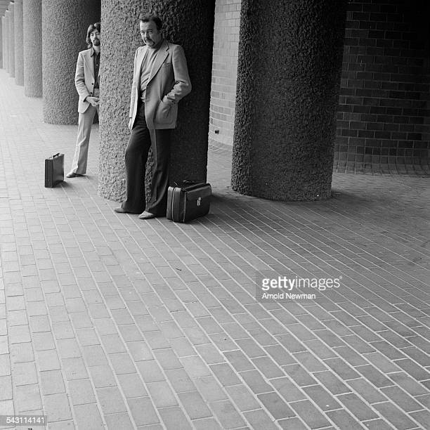 Portrait of theatre directors Trevor Nunn and Sir Peter Hall at the Barbican London England June 1 1978