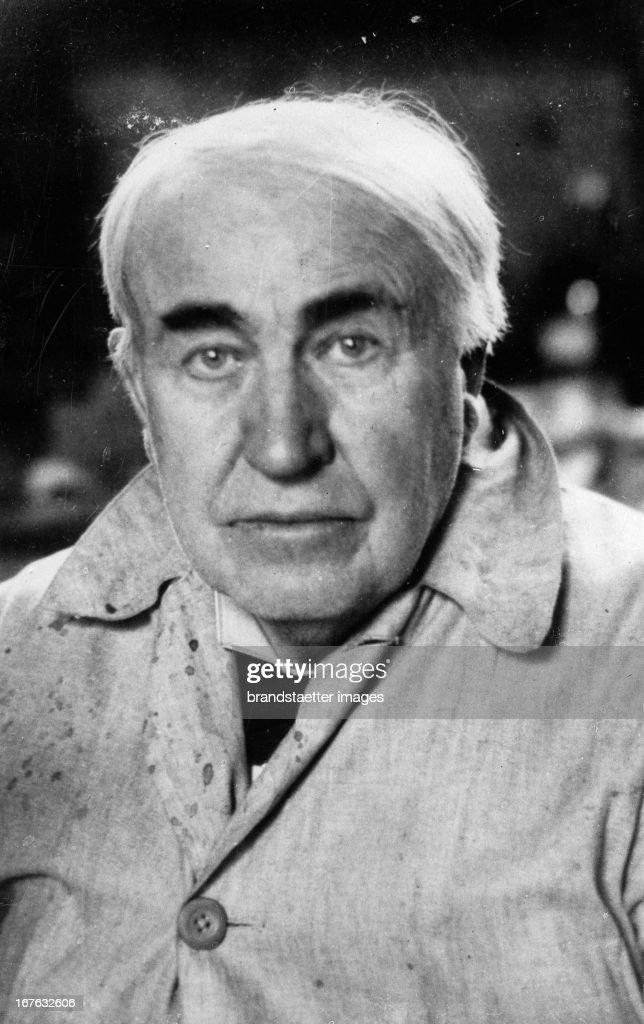 Portrait of Thomas Alva Edison. Photograph. . (Photo by Imagno/Getty Images) Portrait Thomas Alva Edison. Photographie. .