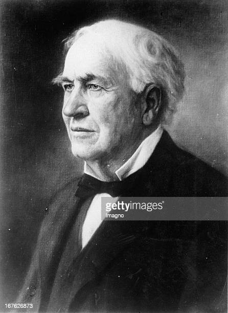 Portrait of Thomas Alva Edison The inventor at the age of about 80 years Photograph About 1930 Portrait von Thomas Alva Edison Der Erfinder im Alter...