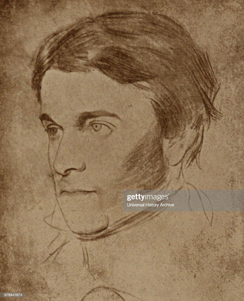 Portrait of Thomas Carlyle a Scottish philosopher satirical writer essayist historian and teacher Dated 19th Century
