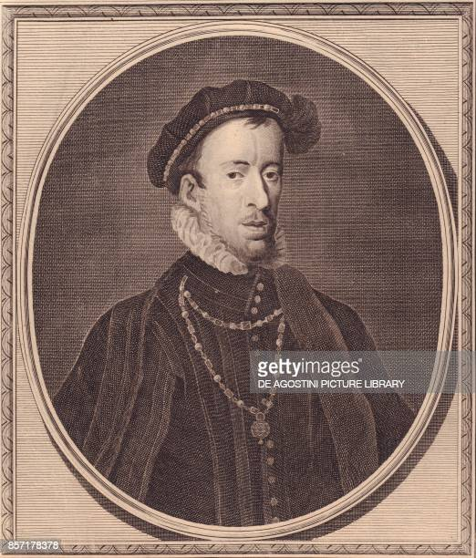 Portrait of Thomas Howard 4th Duke of Norfolk copper engraving by John Goldar 18x15 cm from History of England by Paul de Rapin Harrison's Edition...