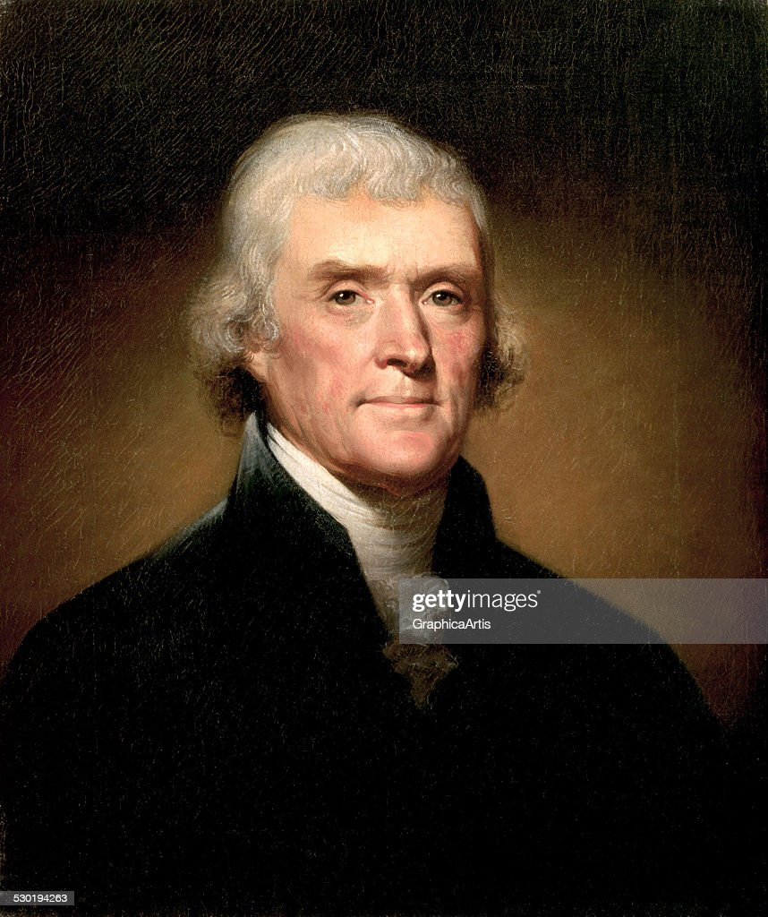 Portrait of Thomas Jefferson by Rembrandt Peale 1853