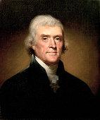 Portrait of Thomas Jefferson by Rembrandt Peale 1853