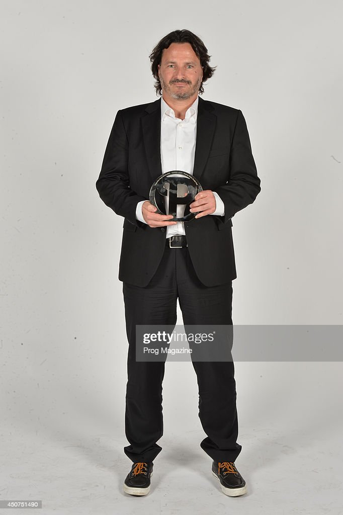 Portrait of Thomas Waber, founder of Insideout Records, photographed after winning the Guiding Light award at the 2013 Progressive Music Awards at Kew Gardens in London, on September 3, 2013.