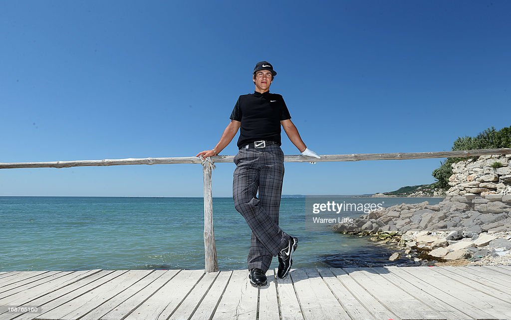 A portrait of <a gi-track='captionPersonalityLinkClicked' href=/galleries/search?phrase=Thorbjorn+Olesen&family=editorial&specificpeople=6545194 ng-click='$event.stopPropagation()'>Thorbjorn Olesen</a> of Denmark during the pro am event prior to the Volvo World Match Play Championship at Thracian Cliffs Golf & Beach Resort on May 15, 2013 in Kavarna, Bulgaria.
