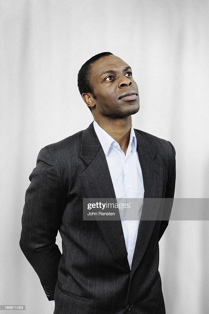 portrait of thoughtful man : Stock Photo