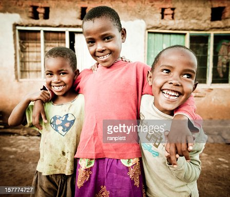 Portrait of Three African Children