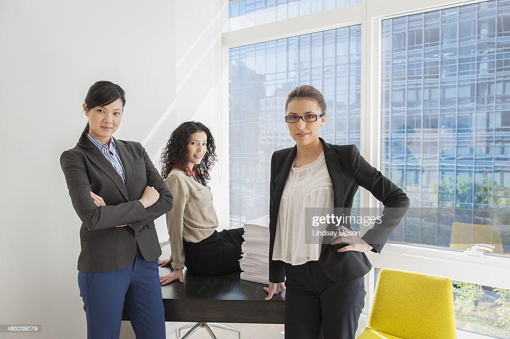 Portrait of three confident businesswomen : Stock Photo