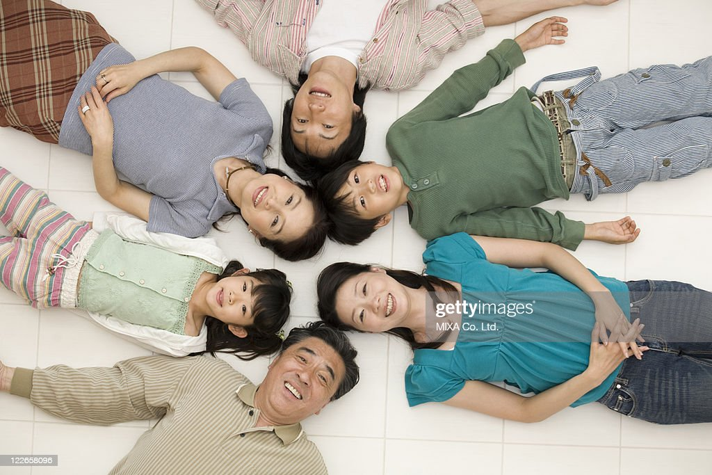 Portrait of three generation family : Stock Photo