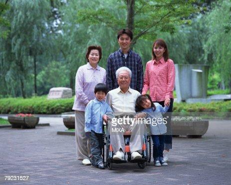Portrait of three generational family : Stock Photo
