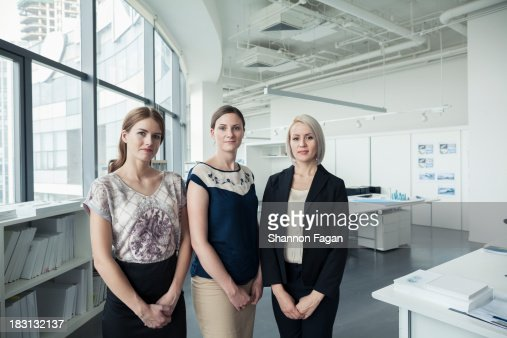 Portrait of three young businesswomen : Stock Photo