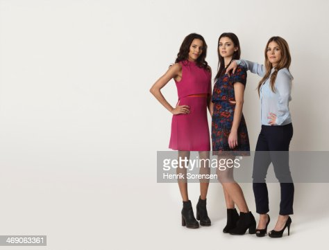 Portrait of three young women : Stock Photo