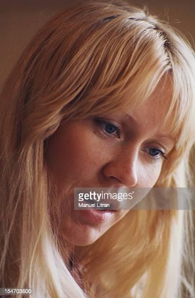 Portrait of threequarters of Agnetha Faltskog