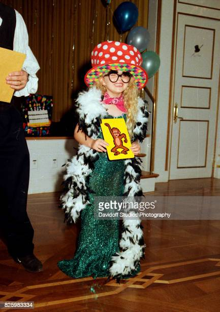 Portrait of Tiffany Trump in a costume as she smiles during her fifth birthday party at the MaraLago estate Palm Beach Florida October 13 1998