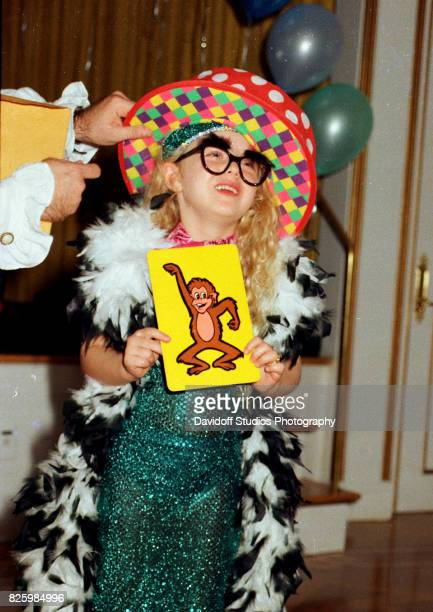 Portrait of Tiffany Trump in a costume during her fifth birthday party at the MaraLago estate Palm Beach Florida October 13 1998