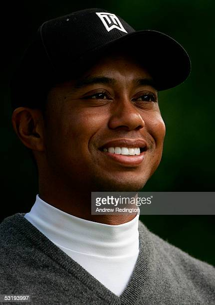 A portrait of Tiger Woods of The USA during the first round of the JP McManus Invitational ProAm event on July 4 2005 at the Adare Manor Hotel and...