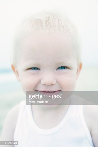 Portrait of Toddler at Venice Beach : Stock Photo