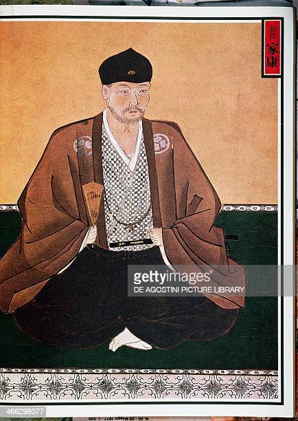 Portrait of Tokugawa Ieyasu founder of the dynasty of the same name as Shogun Japan 16th17th century