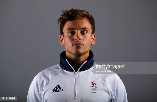 A portrait of Tom Daley a member of the Great Britain Olympic team during the Team GB Kitting Out ahead of Rio 2016 Olympic Games on June 28 2016 in...