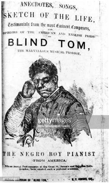 A portrait of Tom Wiggins 'Blind Tom' 'The Negro Boy Pianist' a well known blind pianist in the late 19th century February 1 1981