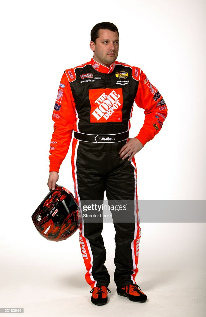 Portrait of <a gi-track='captionPersonalityLinkClicked' href=/galleries/search?phrase=Tony+Stewart+-+Racerf%C3%B6rare&family=editorial&specificpeople=201686 ng-click='$event.stopPropagation()'>Tony Stewart</a>, driver of the #20 Joe Gibbs Racing Home Depot Chevrolet, during Media Day at the NASCAR Nextel Cup Daytona 500 on February 10, 2005 at the Daytona International Speedway in Daytona, Florida.
