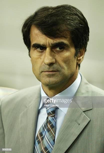 Portrait of Turkey coach Senol Gunes during the Brazil v Turkey holds offCup Semifinal Stage match played at the Saitama Stadium Saitama in Japan on...