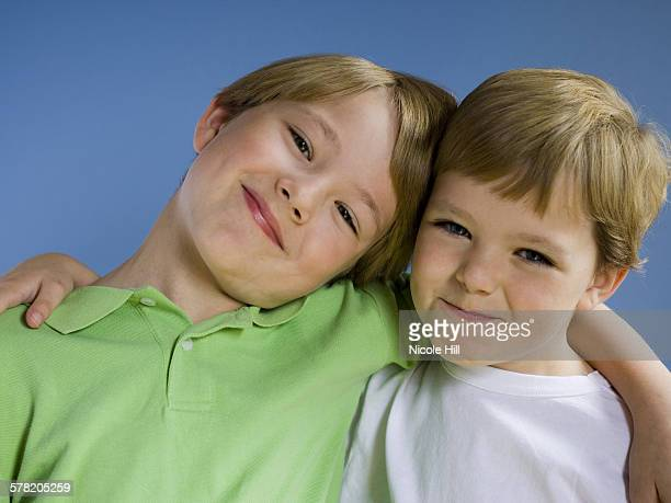 Portrait of two boys smiling