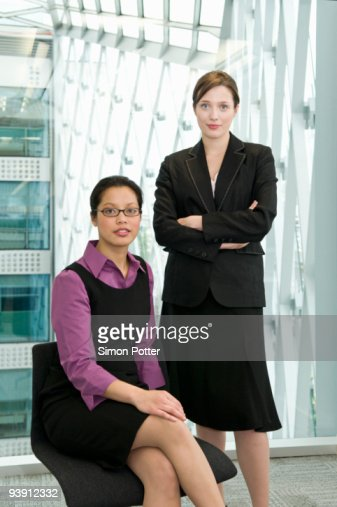Portrait of two business women. : Stock Photo