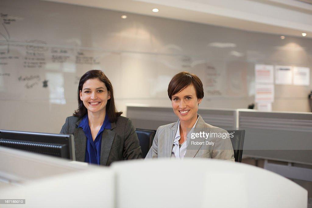 Portrait of two businesswomen : Stock Photo
