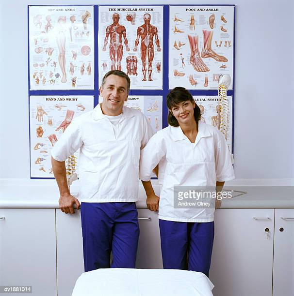 Portrait of Two Chiropractors in a Clinic