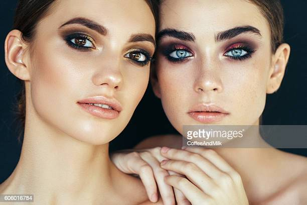 Portrait of two fresh and lovely women