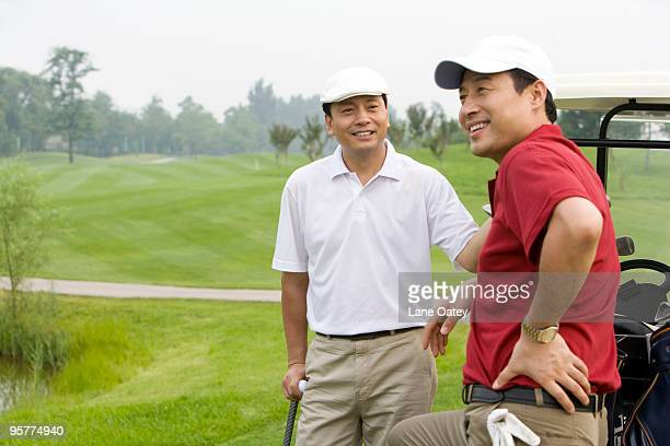 Portrait of Two Golfers on the Course