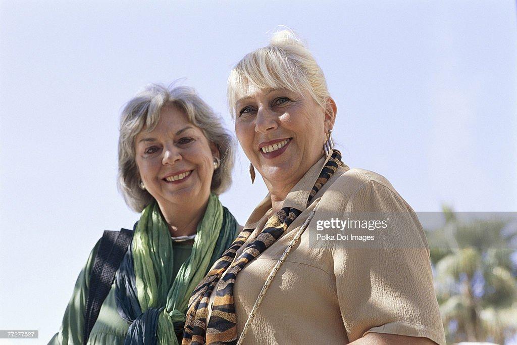 Mature women outdoors