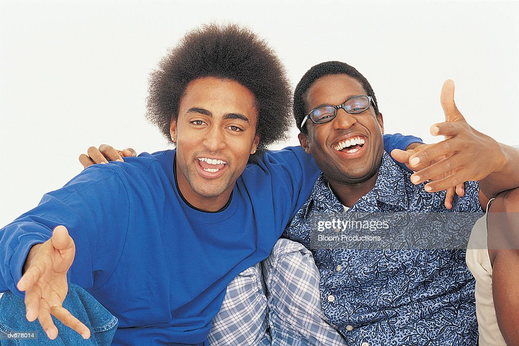 Portrait of Two Men Smiling : Stock Photo