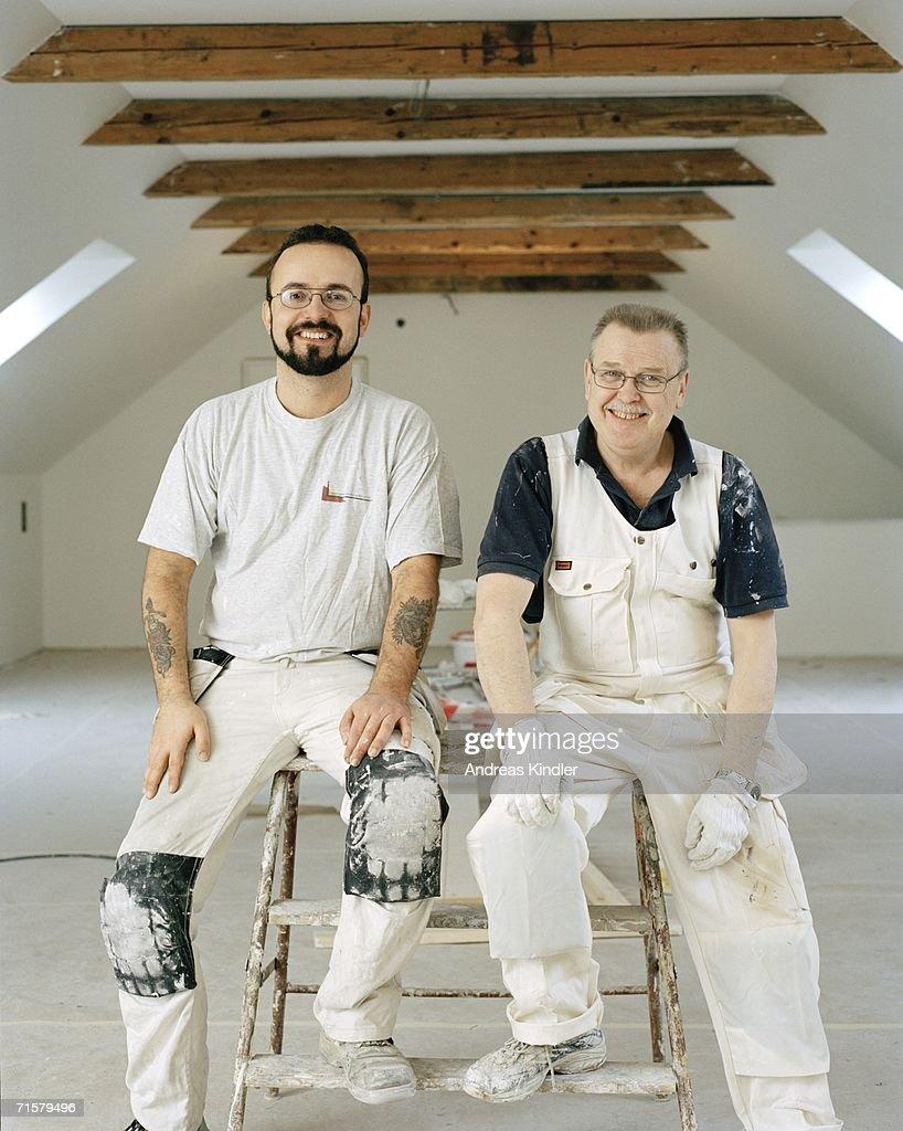 Portrait of two painters.