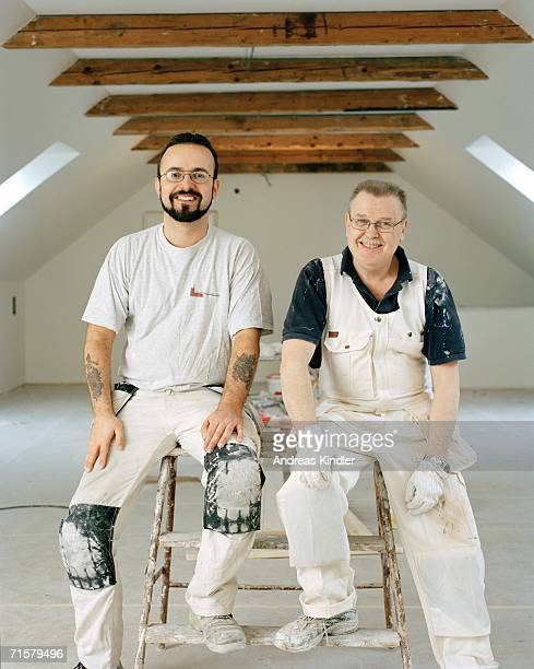 Portrait of two painters.