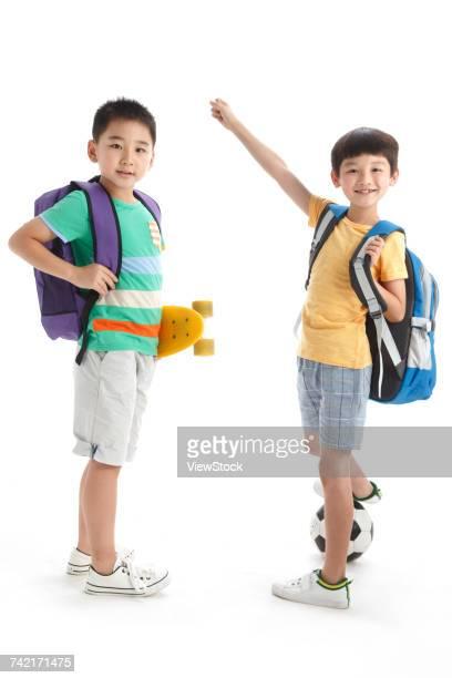 Portrait of two school boys