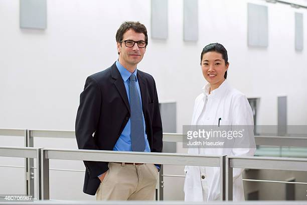 Portrait of two scientists in laboratory