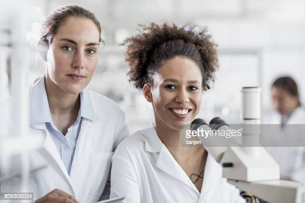 Portrait of Two Scientists in The Laboratory