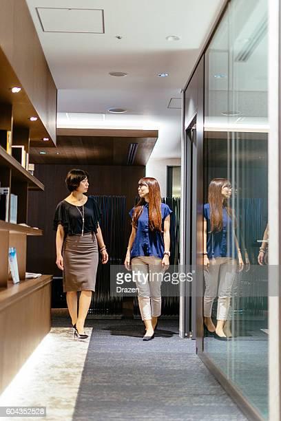 Portrait of two successful businesswomen in Japan