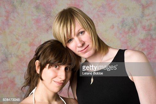 Portrait of two transgender women