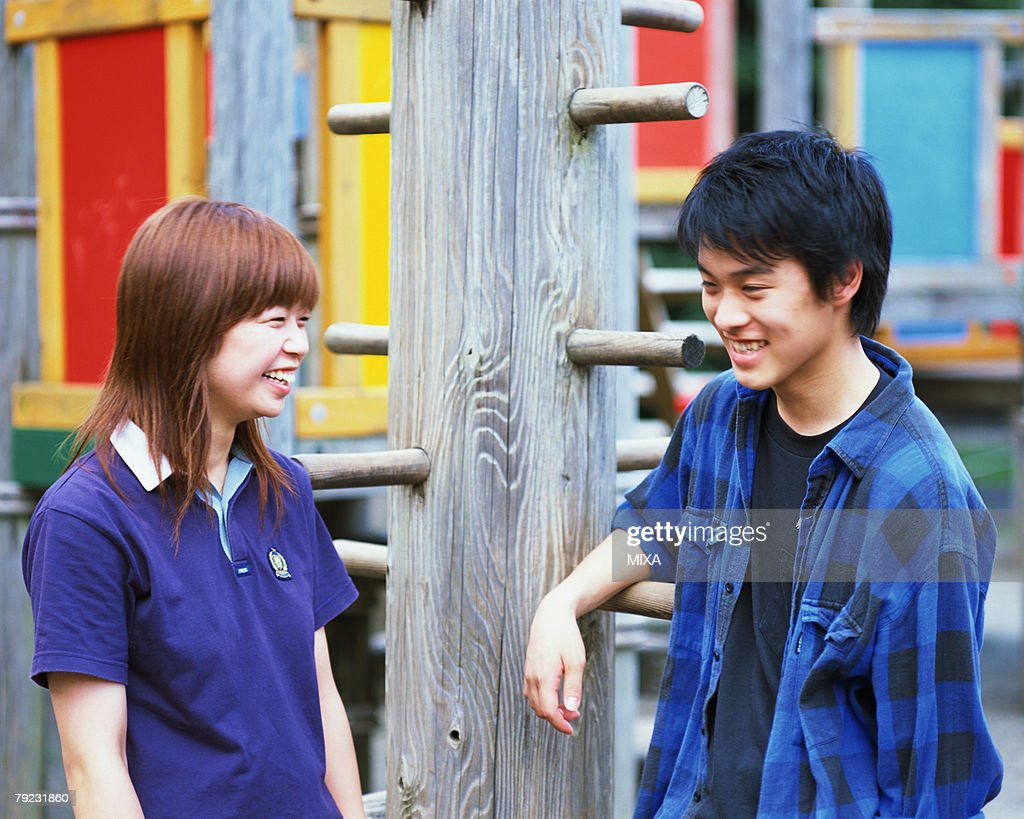 Portrait of two young people : Stock Photo