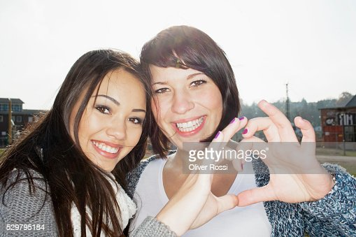 Portrait of two young women : Stock-Foto