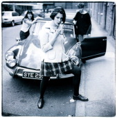 Portrait of UK indie rock band Stereolab photographed in London in May 1991 24203 Exclusive