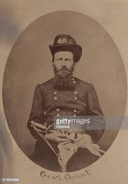 Portrait of Ulysses S Grant shortly after he became a Brigadier General at the beginning of the American Civil War