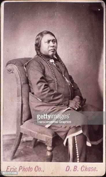 Portrait of Uncompahgre Ute Native American Chief Ouray 1870s The photograph was taken by DB Chase of the Erie Photo Company