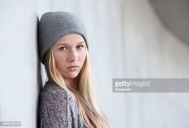 Portrait of unhappy teenage girl