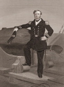 Portrait of United States naval officer Andrew Hull Foote mid 19th century